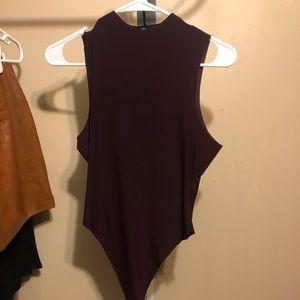 Purple Fashion Nova bodysuit